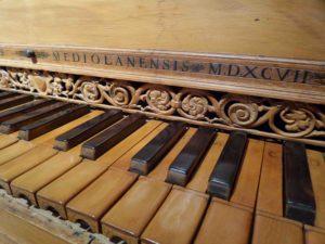 Harpsicord keyboard