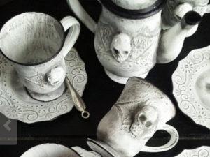 Skull tea cups